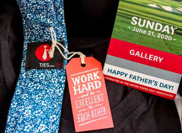 Ties and Tickets are great ideas of Father's Day travel gifts for men