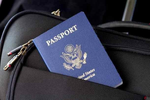 Passport for traveling internationally