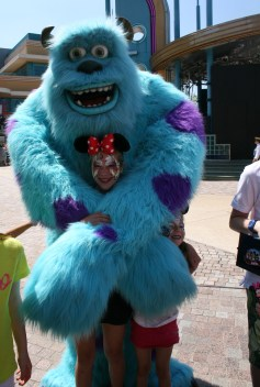 Having fun with Sully, Disney Paris