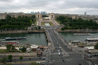 The view of Trocadaro, Paris, France