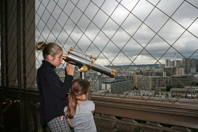 Checking out the view thru the telescopes