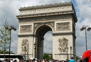 The Arc de triomphe from across the road