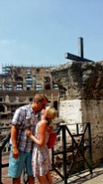 The Cross as you enter the Roman Colosseum