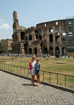 Outside the Colosseum