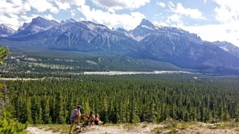 Overlooking Abraham Lake, Alberta, Canada