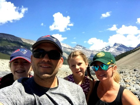 Our family on a hike, Alberta, Canada