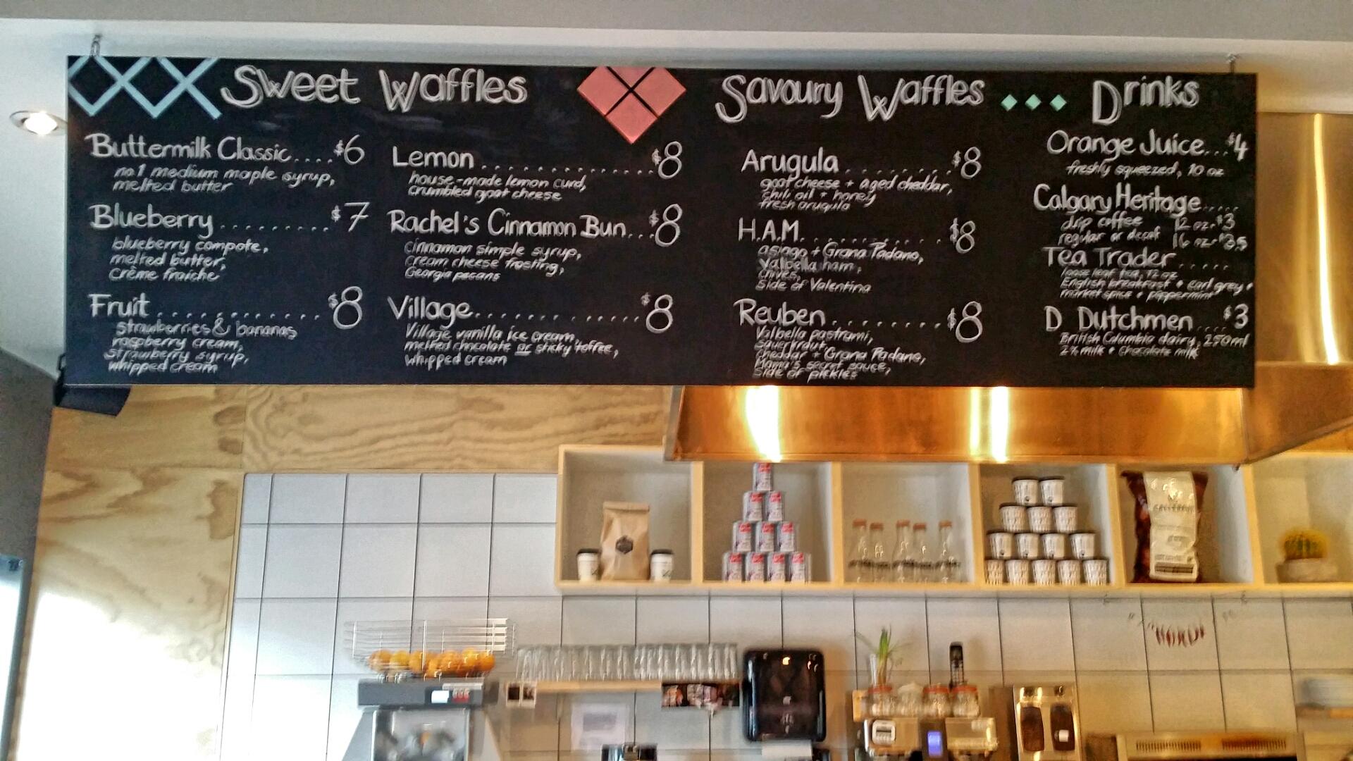 The Impressive Menu, Cafe-Blanca, Calgary