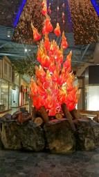 The giant campfire, CrossIron Mills, Calgary