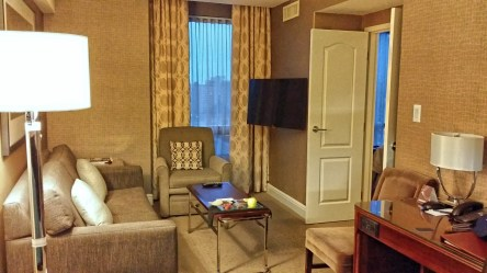 Living Room, 2 Bedroom Suite, Sheraton Eau Claire