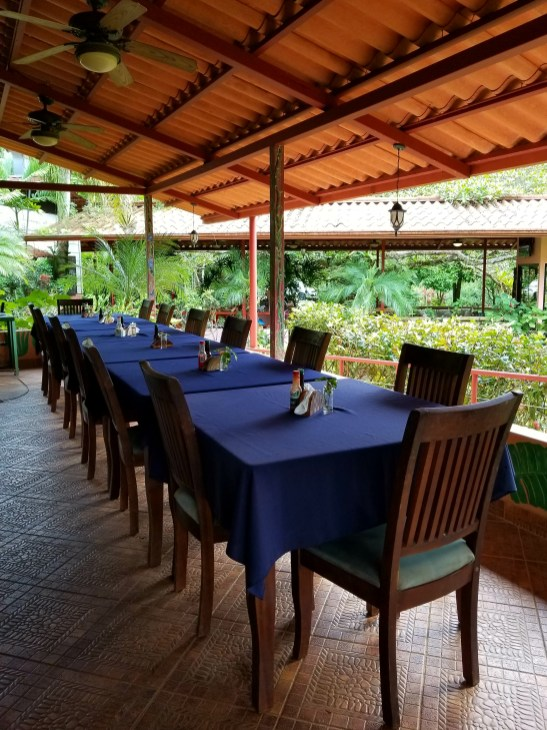 Open Air Dining Area at Kids Saving the Rainforest, Quepos, Costa Rica