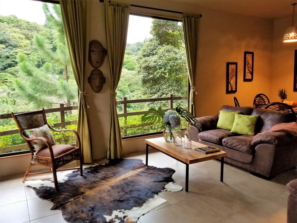 Living Room, Casa Mia, Monteverde, Costa Rica