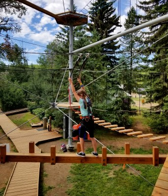 First Level, Snow Valley Aerial Park, Edmonton, Alberta, Canada