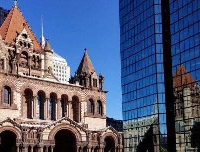 Trinity Church and Hancock Tower, Boston