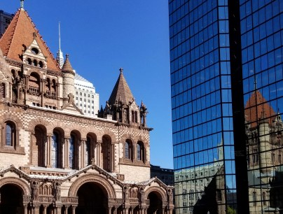 Trinity Church and Hancock Tower, Boston