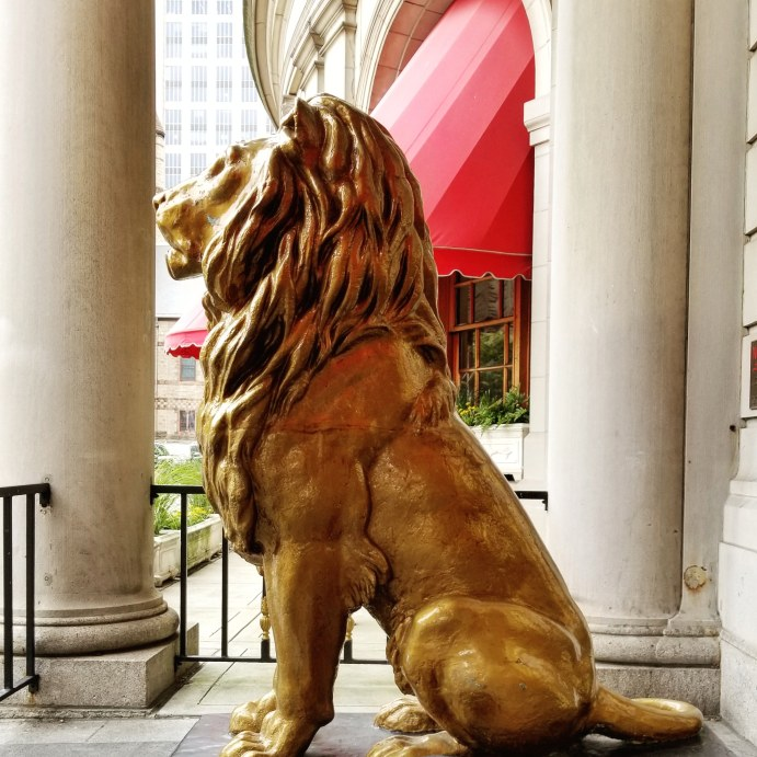 The Lions of the St James Entrance, Fairmont Copley Plaza, Boston