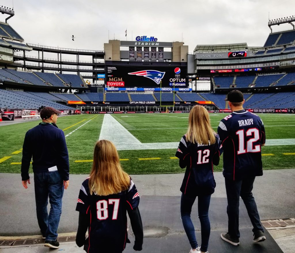 Stepping onto Gillette Field Grounds, New England