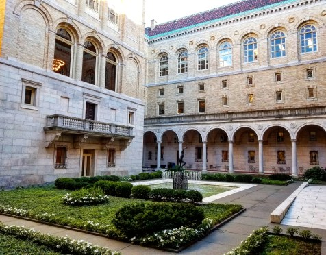 Boston Public Library Italian Courtyard