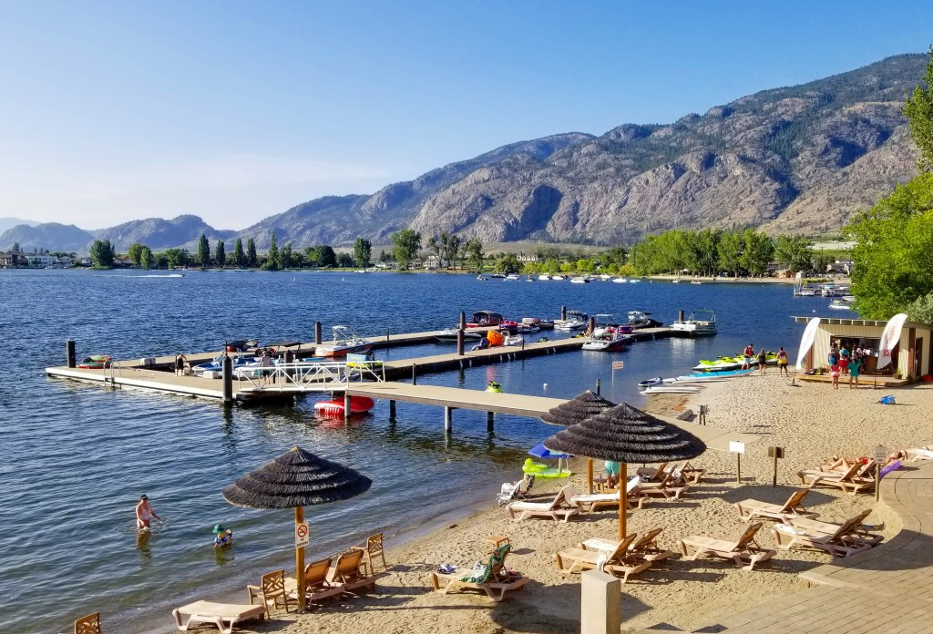 Private Beach, Walnut Beach Resort, Osoyoos, BC