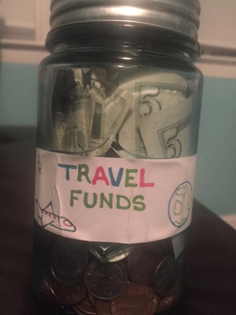 My cash savings jar