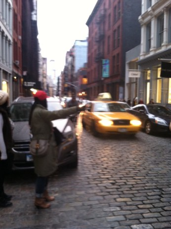 soho_hailing cab