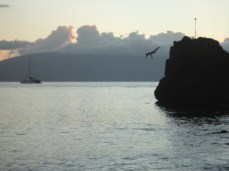 sheraton black rock cliff dive