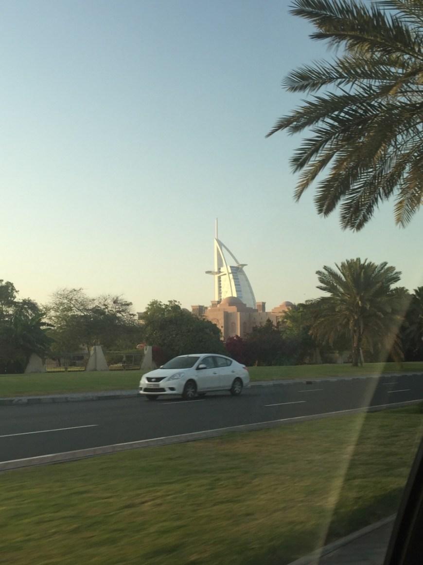 Burj Al Arab in the background