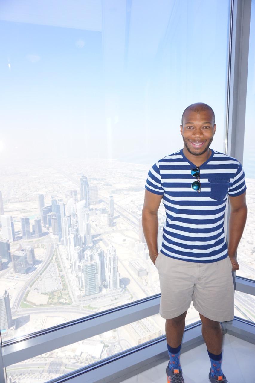 Thad at the top of the Burj Khalifa