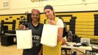 Xina Foreman and Ali Bamberger MVP's