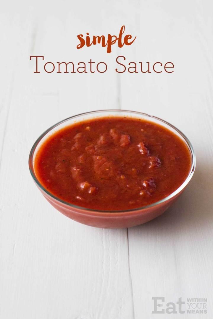 Simple Tomato Sauce | https://passtheplants.com