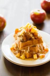 Apple Pie Waffles | https://passtheplants.com
