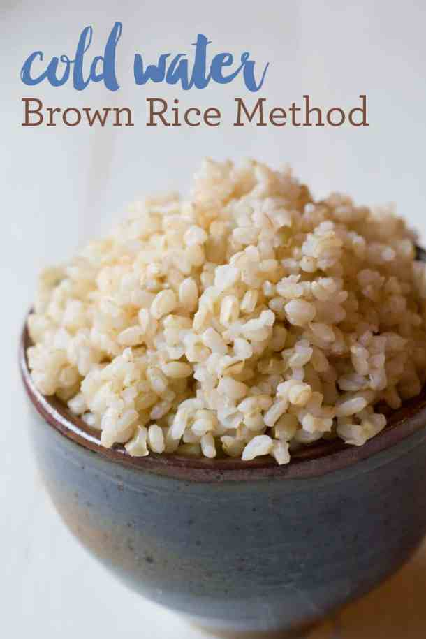 Cold Water Brown Rice Method | https://passtheplants.com