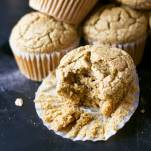 These no-bowl muffins are made in the blender! Vegan, oil-free, gluten-free, and super soft! | https://passtheplants.com