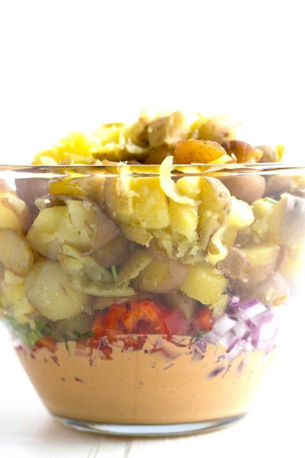 Vegan Southwestern Potato Salad | Oil-Free, Gluten-Free | https://passtheplants.com