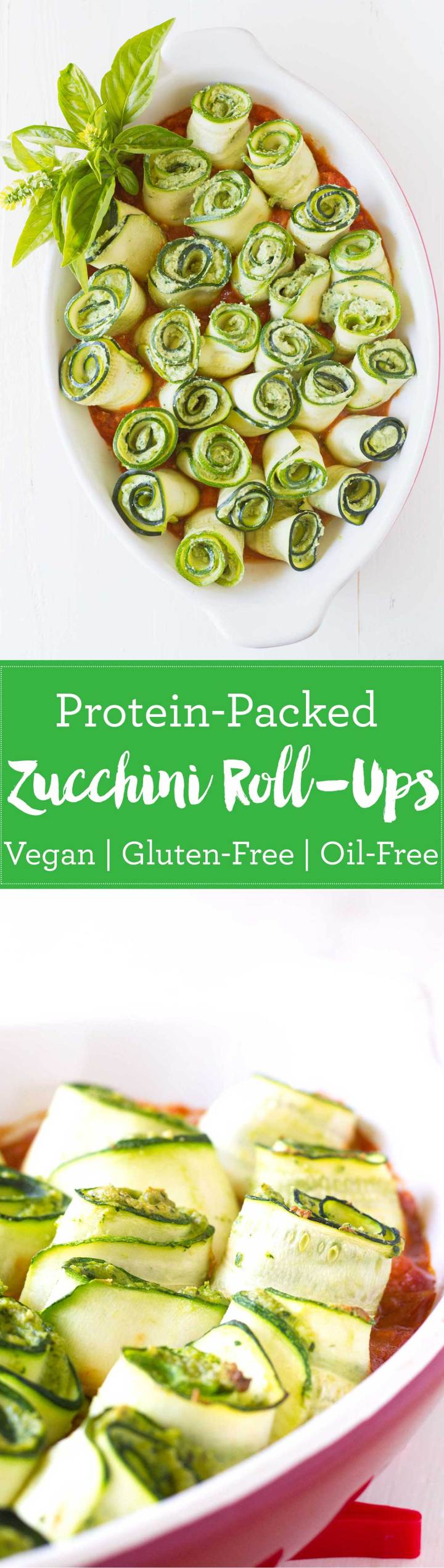 Protein-Packed Zucchini Roll-Ups | Vegan, Gluten-free | https://passtheplants.com