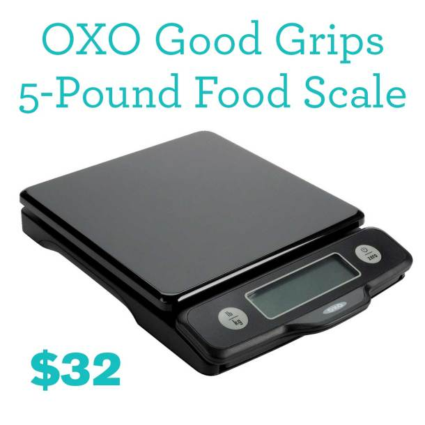 5 Kitchen Essentials Under $50 | OXO Good Grips 5-Pound Food Scale with Pull-out Display | https://passtheplants.com