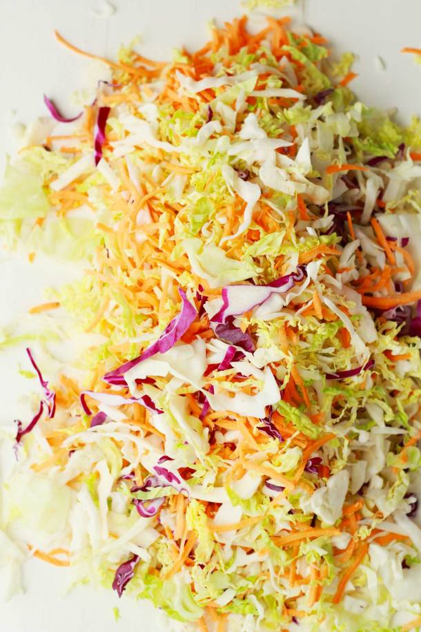 Roasted Winter Slaw | Shredded cabbage and sweet potatoes are roasted to savory side dish perfection in 20 minutes! Vegan, gluten-free, plant-based | https://passtheplants.com