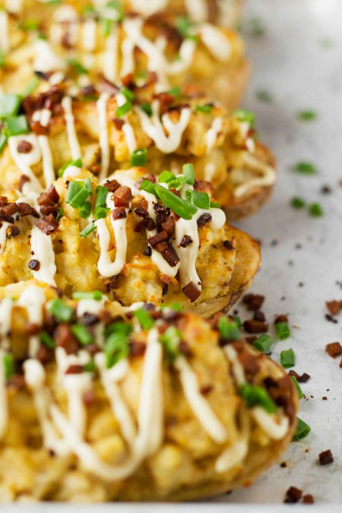 Protein-Packed Twice-Baked Potatoes | Vegan | Gluten-free | Oil-free | Plant-based | https://passtheplants.com/