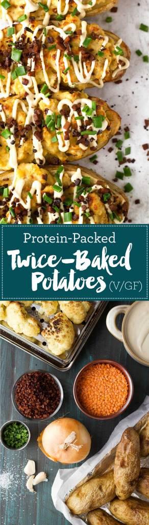 Protein-Packed Twice-Baked Potatoes   Vegan   Gluten-free   Oil-free   Plant-based   https://passtheplants.com/