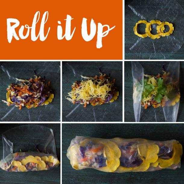 Winter Rolls - spring rolls made with winter vegetables! Vegan | Gluten-free | Plant-based | Oil-free | https://passtheplants.com