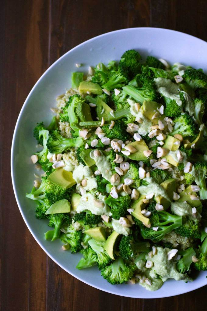 Triple Broccoli Quinoa | Broccoli is the star of the show in this delicious and healthy meal! Packed with protein and and so good for you. Vegan, gluten-free, WFPB | https://passtheplants.com/