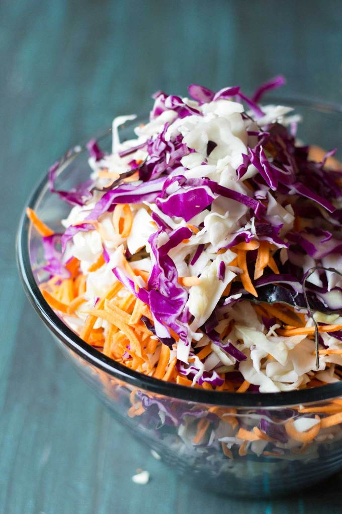 Vegan Southwestern Coleslaw | Vegan | Plant-Based | Oil-Free | Spicy | Chipotle | Coleslaw | https://passtheplants.com/