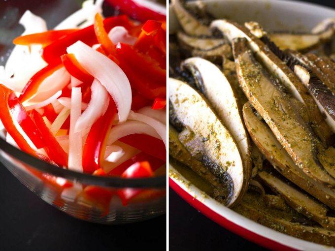 Ultimate Vegan Fajitas | Peppers, onions, marinated portobello mushrooms | https://passtheplants.com/