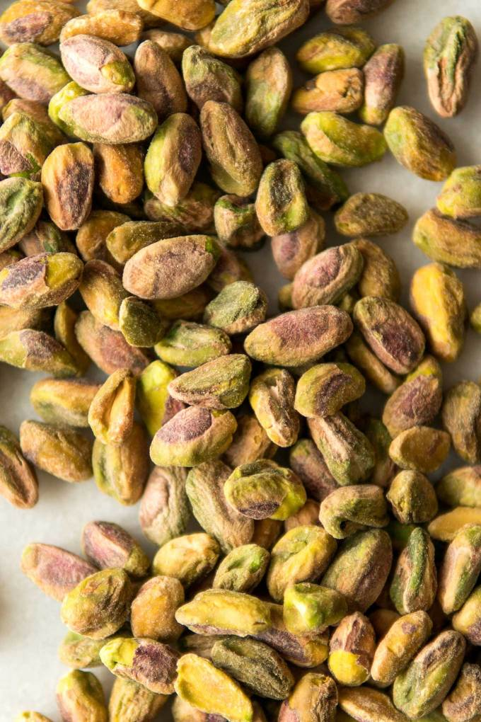 close up of pistachio nuts