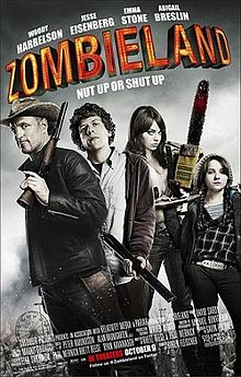 """Zombieland"": A zom-com about Columbus (Jesse Eisenberg), a boy who travels across the U.S. to check on his folks when he meets other survivors. (2009)"