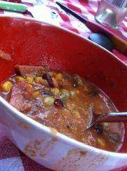 Grandma's taco soup was on the menu.
