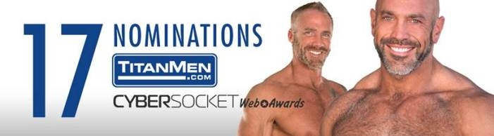 TitanMen receives 17 Cybersocket Awards Nominations