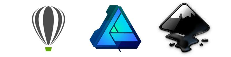 Illustrator Inkscape Affinity Designer Corel Draw
