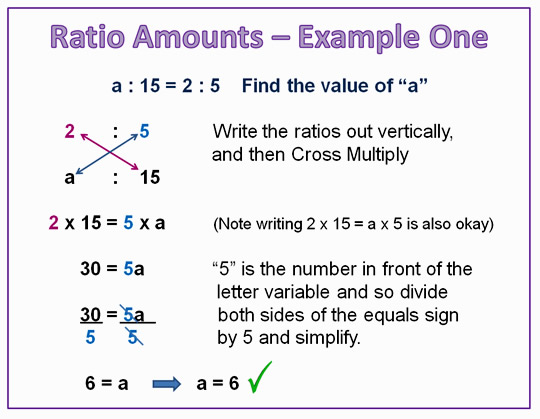Finding Ratio Amounts Of Proportions  Passy's World Of Mathematics