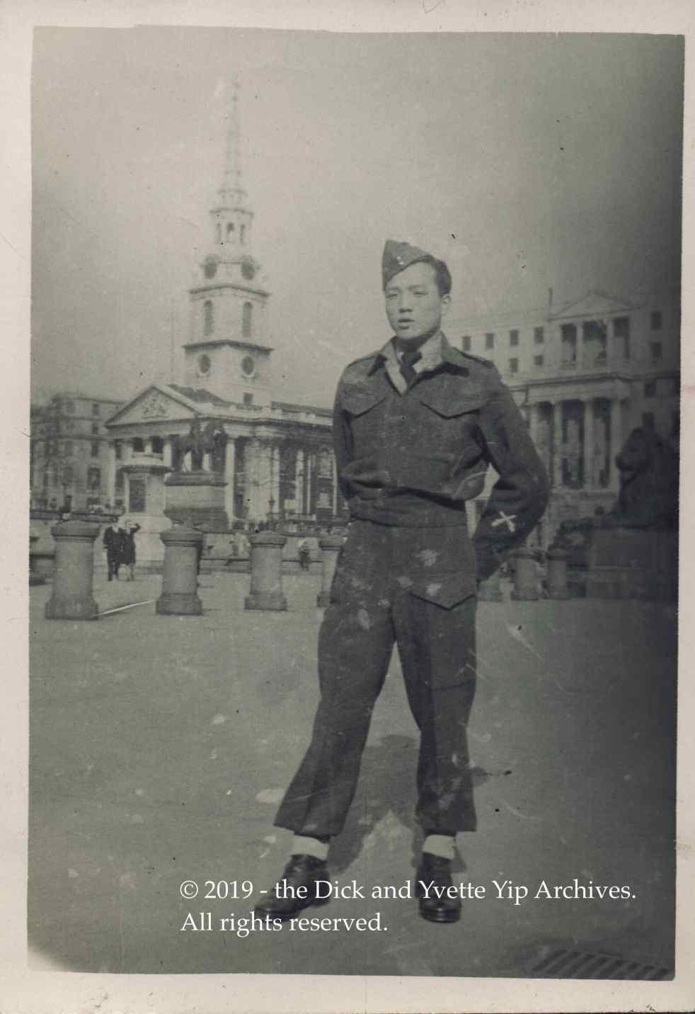 Dick in London Mar 1945 VE00750A