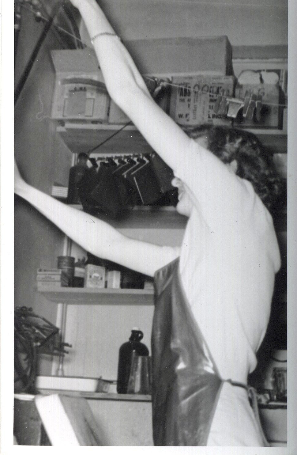 Photo of Dorothy Gibson in her darkroom